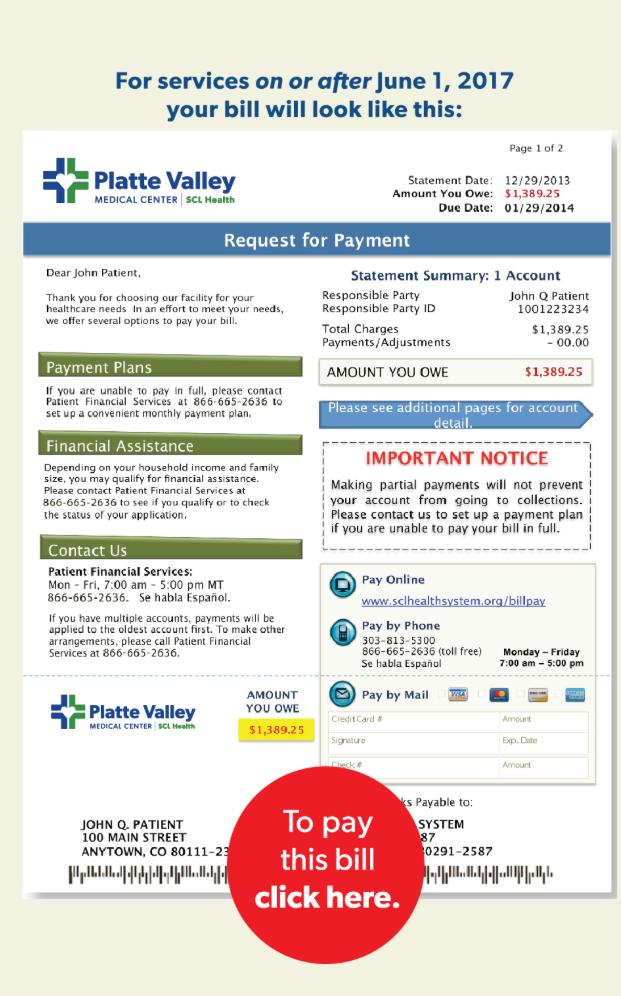 Billing | SCL Health | Brighton, CO