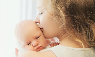 Mom and baby, postpartum depression